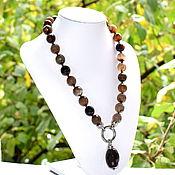 Работы для детей, handmade. Livemaster - original item Beads with pendant from natural agate. Handmade.