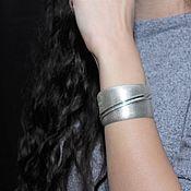 Украшения handmade. Livemaster - original item Minima series cuff bracelet in ASH0007 combination silver. Handmade.