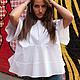 Стильная блузка из 98 % хлопка 2% эластана.