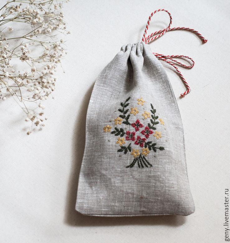 Мешочки с вышивкой купить