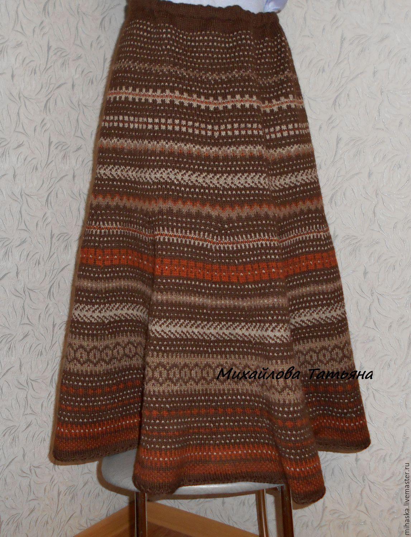 Купить вязаную зимнюю юбку