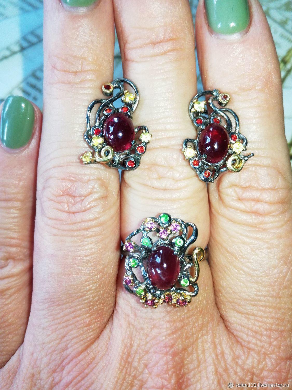 Elegant lines set with rubies, Jewelry Sets, Voronezh,  Фото №1