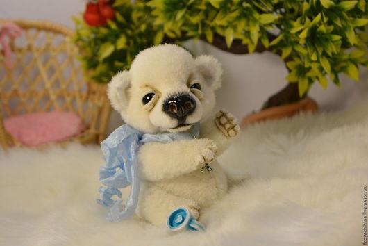 Мишки Тедди ручной работы. Ярмарка Мастеров - ручная работа. Купить Снежок. Handmade. Белый, альпака