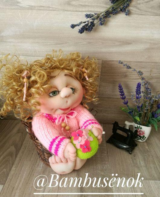 Коллекционные куклы ручной работы. Ярмарка Мастеров - ручная работа. Купить Малышка с игольницей. Интерьерная кукла отличный подарок. Handmade.