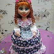 Мини фигурки и статуэтки ручной работы. Ярмарка Мастеров - ручная работа Кукла на чайник. Handmade.