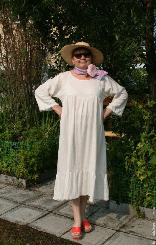 Белое, нарядное и романтичное платье в стиле бохо.