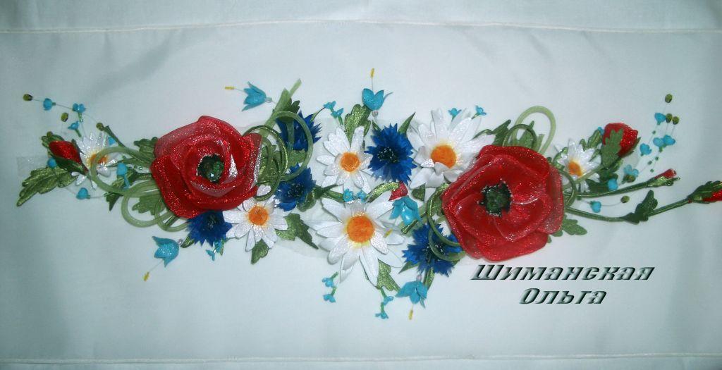 Ярмарка мастеров цветы из ткани мастер класс + видео #9