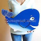 Для дома и интерьера ручной работы. Ярмарка Мастеров - ручная работа Ночник кит. Handmade.
