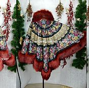 """Одежда ручной работы. Ярмарка Мастеров - ручная работа Пончо с капюшоном """"Молитва"""". Handmade."""
