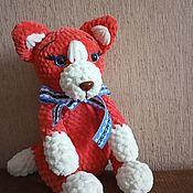 Мягкие игрушки ручной работы. Ярмарка Мастеров - ручная работа Мягкие игрушки: лисенок из плюшевой пряжи. Handmade.