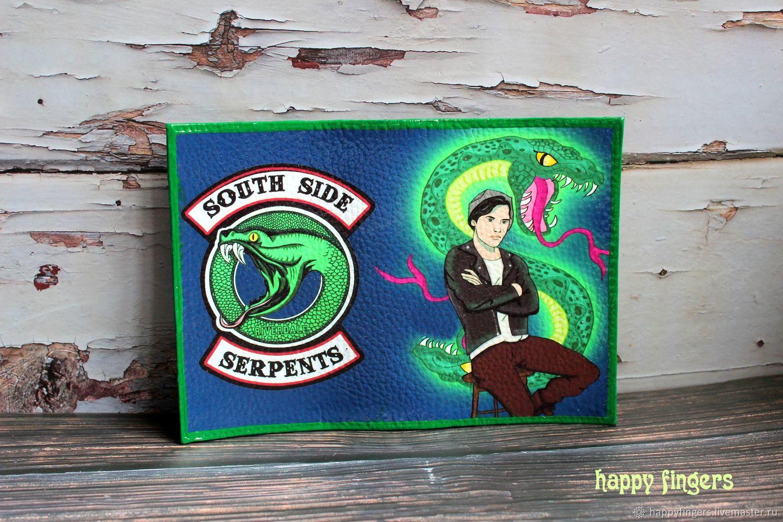 "Кожаная обложка на паспорт ""Ривердейл"" Riverdale, Обложки, Электросталь,  Фото №1"