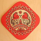 Русский стиль ручной работы. Ярмарка Мастеров - ручная работа Подставка под горячее. Handmade.