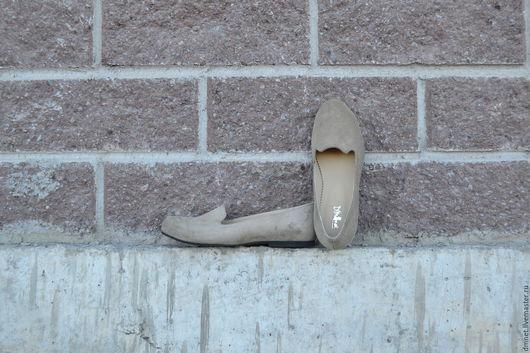 """Обувь ручной работы. Ярмарка Мастеров - ручная работа. Купить Лоферы женские цвета """"загара"""". Handmade. Бежевый, ручная работа"""