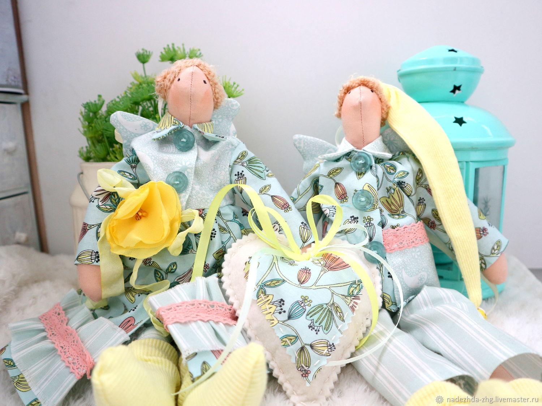 Игрушки интерьерные ангелы сна, подарок на ситцевую свадьбу, Куклы Тильда, Екатеринбург,  Фото №1