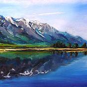 Картины и панно handmade. Livemaster - original item Mountain landscape. Handmade.