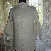 Одежда ручной работы. Ярмарка Мастеров - ручная работа Кардиган из натуральной шерсти. Рукав 3/4. Handmade.