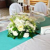 Свадебный салон ручной работы. Ярмарка Мастеров - ручная работа Композиция из живых цветов на стол гостей. Handmade.