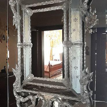 Винтаж ручной работы. Ярмарка Мастеров - ручная работа Венецианское зеркало. Handmade.