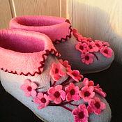 """Обувь ручной работы. Ярмарка Мастеров - ручная работа валеночки домашние """"Сакура"""" есть в наличии. Handmade."""