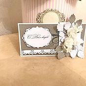 Открытки ручной работы. Ярмарка Мастеров - ручная работа Свадебная открытка конверт для денег. Handmade.