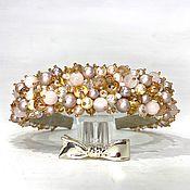 Украшения handmade. Livemaster - original item A rim made of beads and stones (quartz, pearls). Handmade.