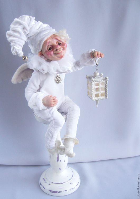 """Коллекционные куклы ручной работы. Ярмарка Мастеров - ручная работа. Купить """"Доброй ночи!"""". Handmade. Белый, гном, ЛивингДолл"""