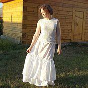 Одежда handmade. Livemaster - original item Simple podobnik, white color,in the style boho. Handmade.