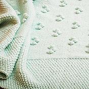 """Для дома и интерьера ручной работы. Ярмарка Мастеров - ручная работа Плед """"Мятная Колыбельная"""". Handmade."""