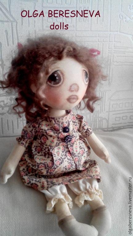 Коллекционные куклы ручной работы. Ярмарка Мастеров - ручная работа. Купить Текстильная кукла Стеша. Handmade. Текстильная кукла