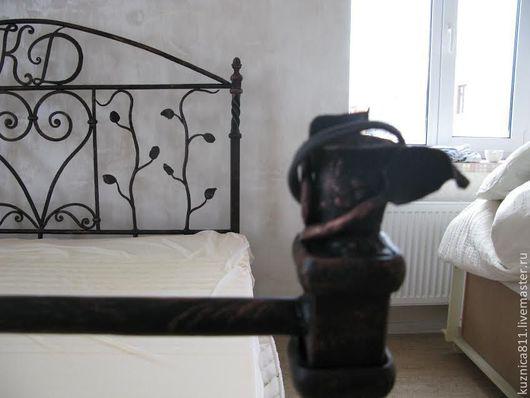 """Мебель ручной работы. Ярмарка Мастеров - ручная работа. Купить Кровать """"Именная"""" - подсвечник. Handmade. Кровать, художественная ковка"""