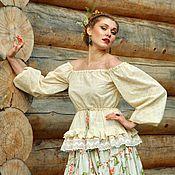 Блузки ручной работы. Ярмарка Мастеров - ручная работа Кружевная блуза в бохо-стиле. Handmade.