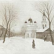 Картины и панно handmade. Livemaster - original item Buy painting poster for interior Tver white Trinity. Handmade.