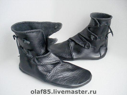 Обувь ручной работы. Ярмарка Мастеров - ручная работа. Купить Обувь ручной работы из натуральной кожи. Реконструкция Хедебю.. Handmade.