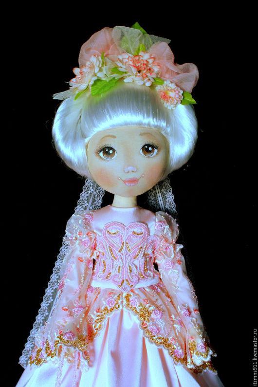 Коллекционные куклы ручной работы. Ярмарка Мастеров - ручная работа. Купить Коллекционная текстильная кукла - Дама в розовом. Handmade.