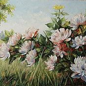 Картины и панно handmade. Livemaster - original item the peonies are in bloom. Handmade.