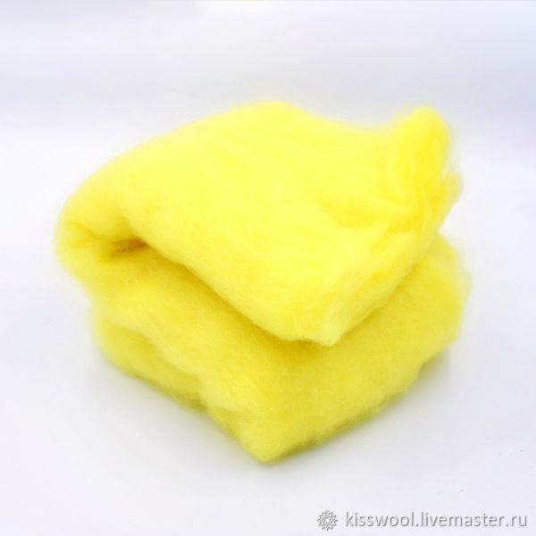 Cardamom Lemon 29 MKR. Troitsk. Wool polutorka, Carded Wool, Berdsk,  Фото №1