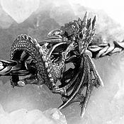 """Подвеска ручной работы. Ярмарка Мастеров - ручная работа Бусина """"Ледяной дракон"""" по Игре престолов. Handmade."""