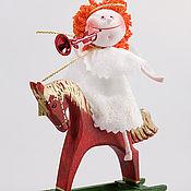 Куклы и игрушки ручной работы. Ярмарка Мастеров - ручная работа Ангелочек на лошадке. Handmade.