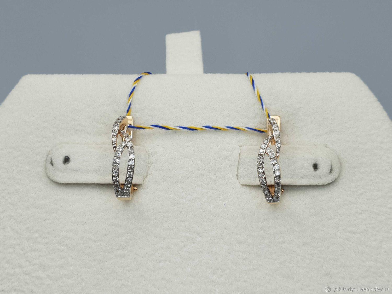 Gold diamond earrings 0,249 ct, Earrings, Moscow,  Фото №1
