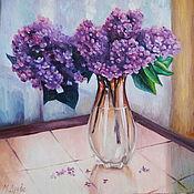 Картины и панно handmade. Livemaster - original item oil painting lilac. Handmade.