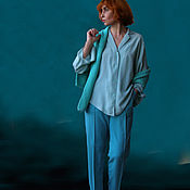 Одежда ручной работы. Ярмарка Мастеров - ручная работа Классическая блузка. Handmade.
