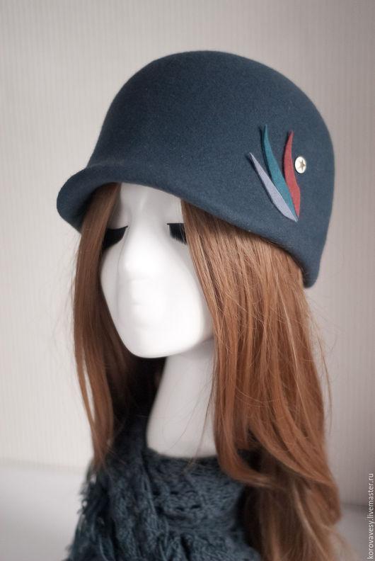 """Шляпы ручной работы. Ярмарка Мастеров - ручная работа. Купить """"Рождественская"""". Handmade. Темно-серый, женская шляпка, купить шляпу"""