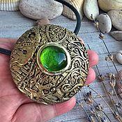 Украшения handmade. Livemaster - original item Cleopatra pendant made of polymer clay.. Handmade.