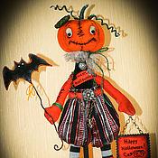 Куклы и игрушки ручной работы. Ярмарка Мастеров - ручная работа авторская кукла ТЫКОВКА ХЕЛЛОУИН. Handmade.