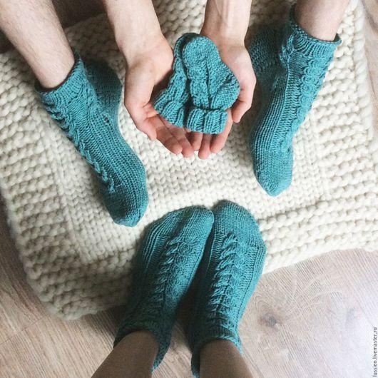 Носки, Чулки ручной работы. Ярмарка Мастеров - ручная работа. Купить Комплект носков Семейный. Handmade. Носки, комплект носков