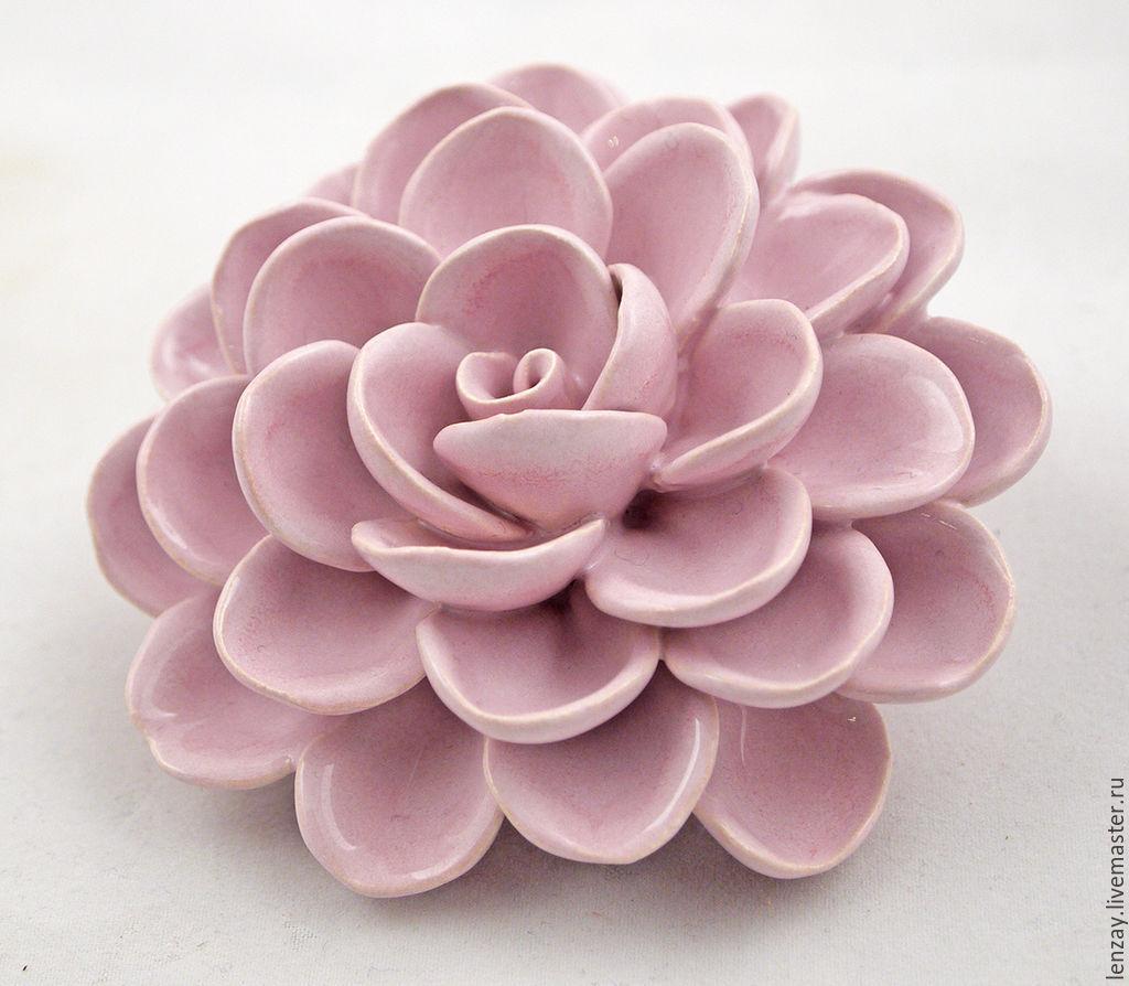 Pink Aster. Ceramic flowers Elena Zaichenko