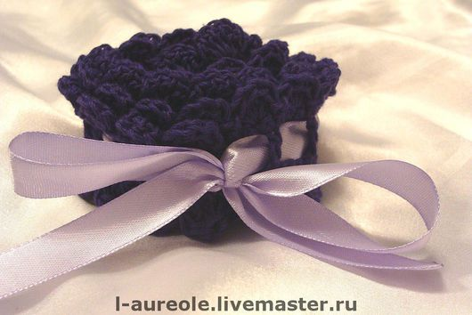 """Свадебная подвязка """"Нежность в фиолетовом"""""""