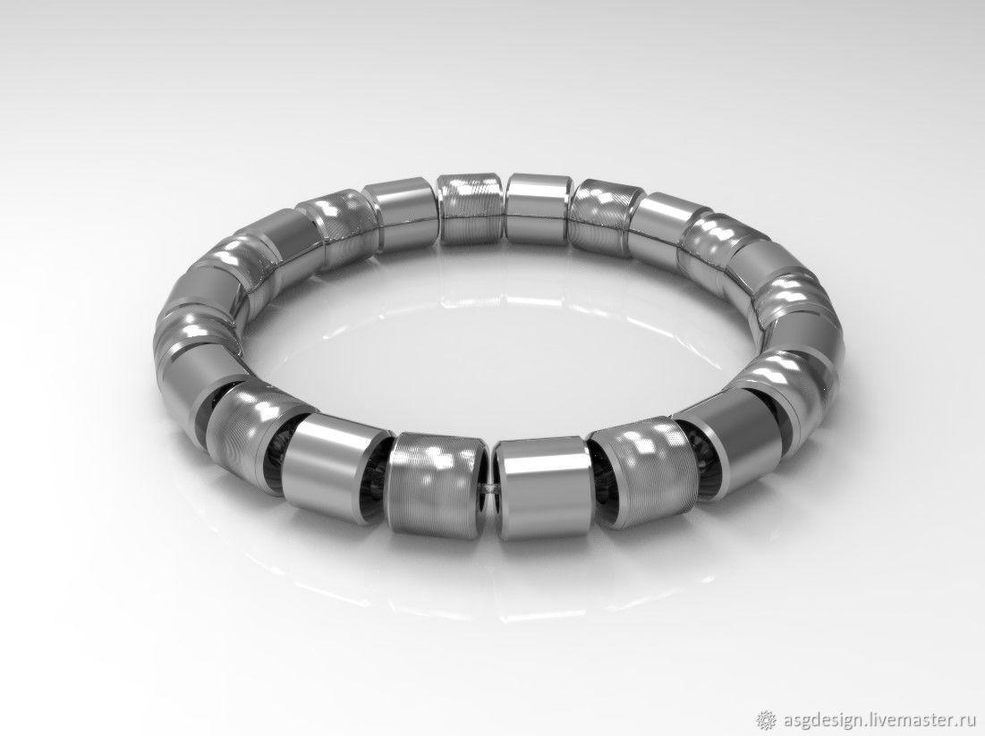 Titanium bracelet, Bead bracelet, Moscow,  Фото №1