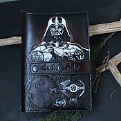 Канцелярские товары handmade. Livemaster - original item Diary the Dark Side DARK SIDE of A5 embossed, painted, clasp. Handmade.