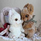 Куклы и игрушки ручной работы. Ярмарка Мастеров - ручная работа Влюбленные зайчики коллекционные игрушки. Handmade.
